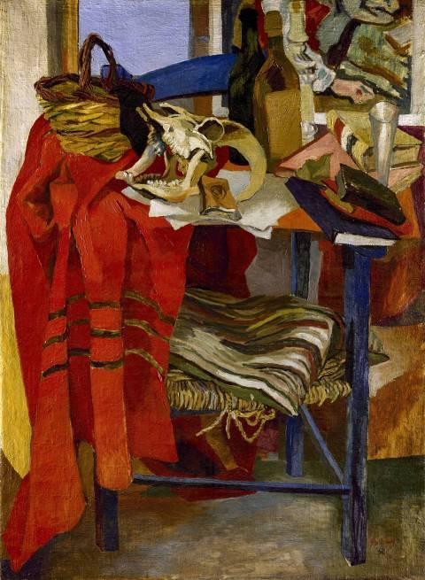 Guttuso- natura mosrta con drappo rosso (1942)