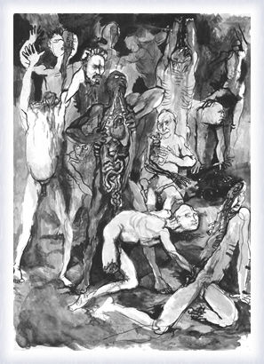 studio per le illustrazione della Divina Commedia- Renato Guttuso
