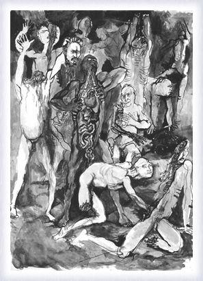 illustrazione divina commedia- Renato Guttuso
