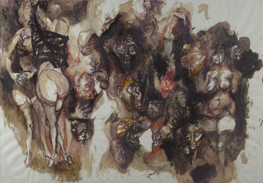 illustrazione della Divina Commedia- Renato Guttuso (1963)