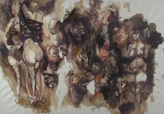illustrazione divina commedia- Renato Guttuso 81963)